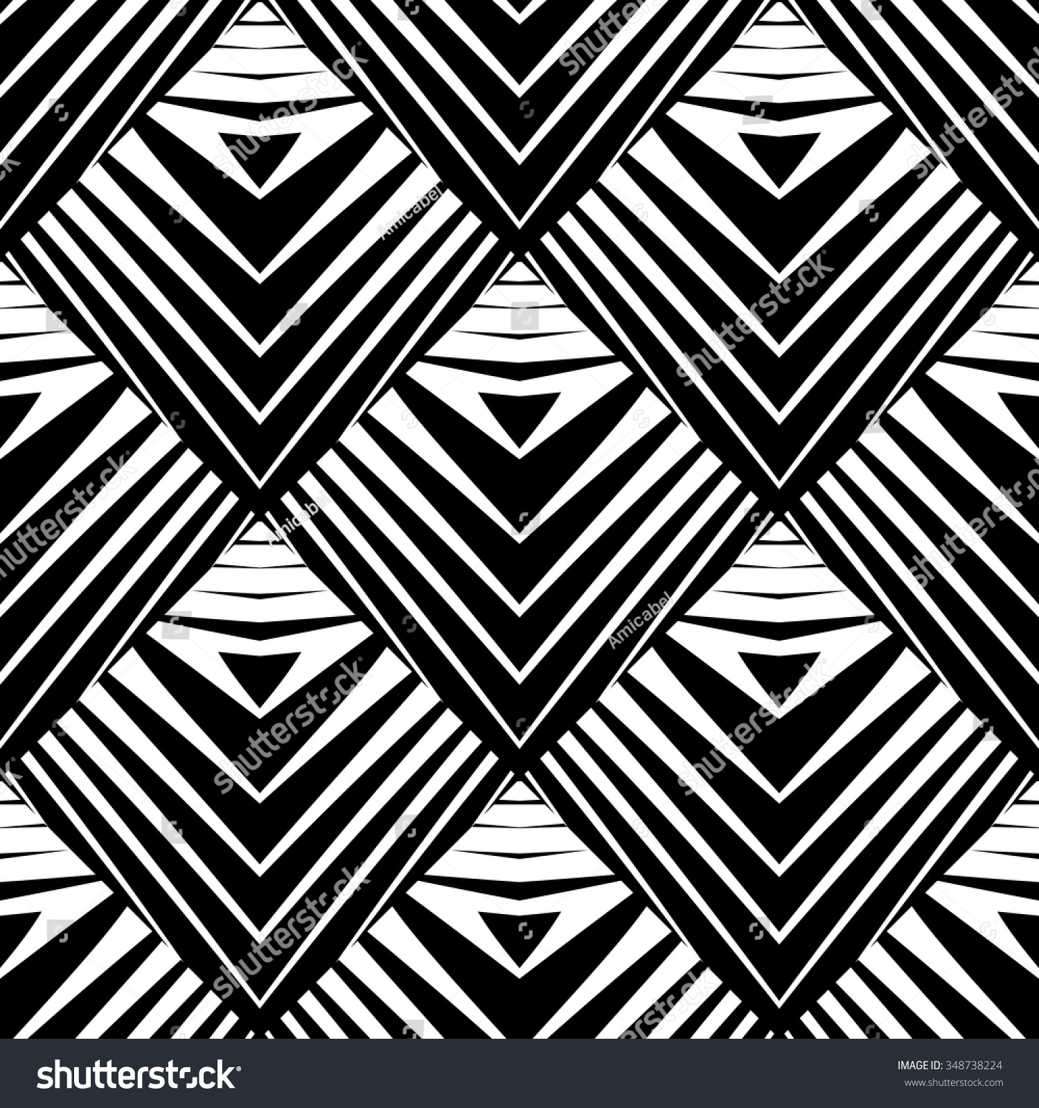 Design Seamless Diamond Pattern Abstract Geometric Stock ...