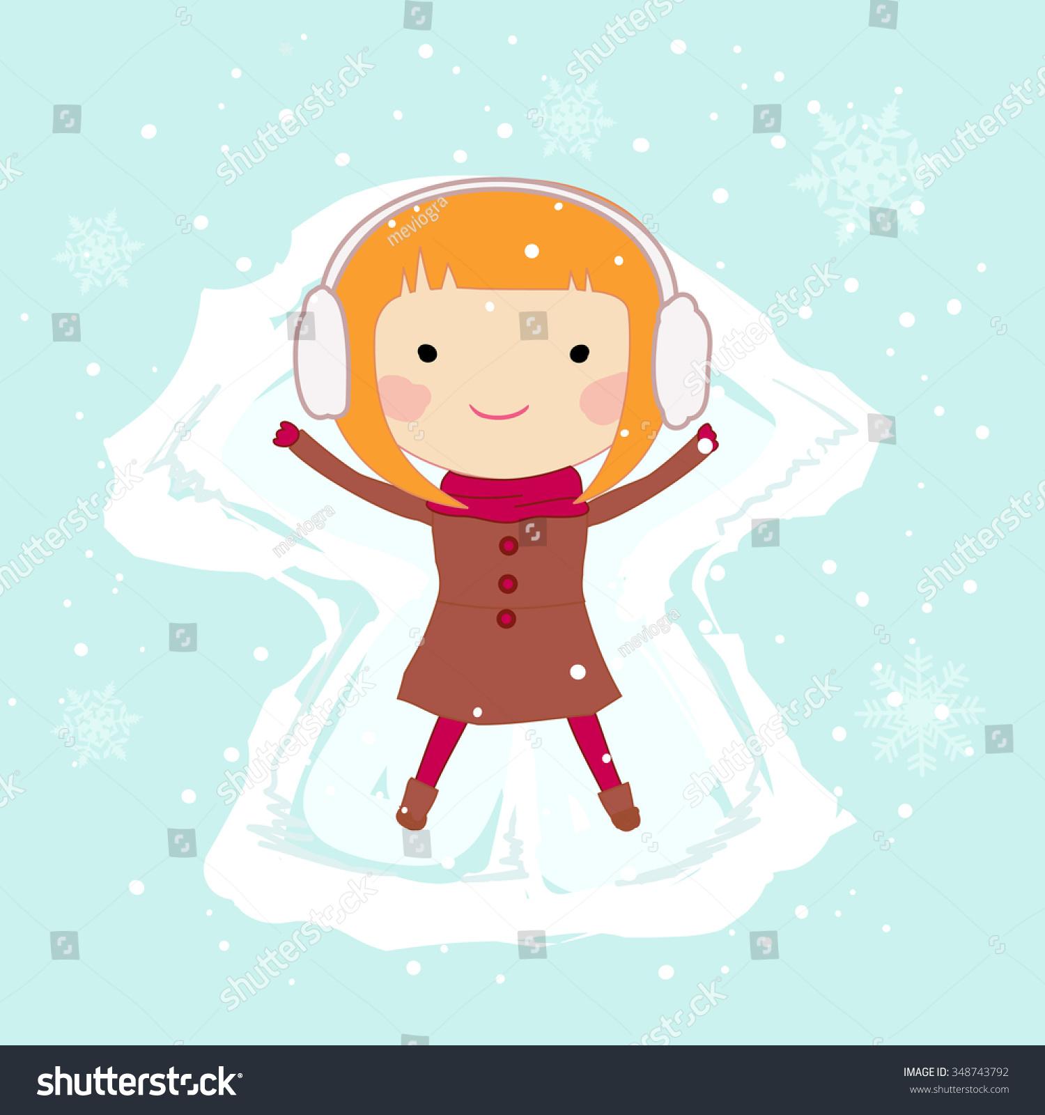 snow angel clipart rh playmasters info Snow Clip Art Snow Family