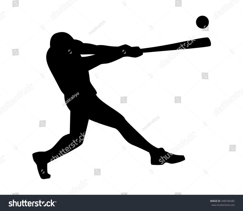 Softball ball silhouette
