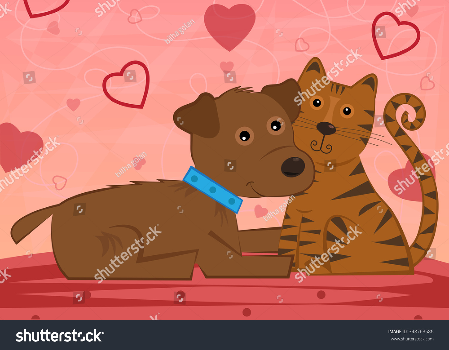 Beautiful Bear Brown Adorable Dog - stock-vector-dog-and-cat-cute-dog-and-a-cat-are-sitting-next-to-each-other-in-front-of-a-decorative-background-348763586  Snapshot_7717100  .jpg