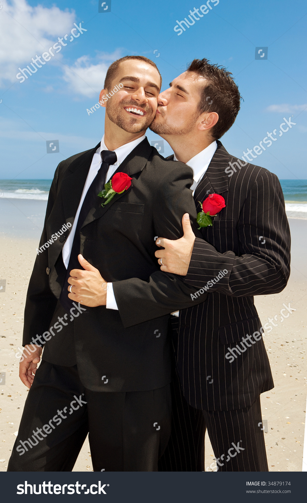 Men In Suits Kissing