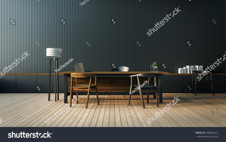Modern interior boss office room d stock illustration