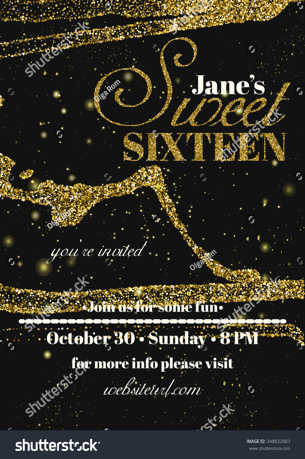 sweet sixteen glitter party invitation flyer stock vector sweet sixteen glitter party invitation flyer template design abstract background for card flyer