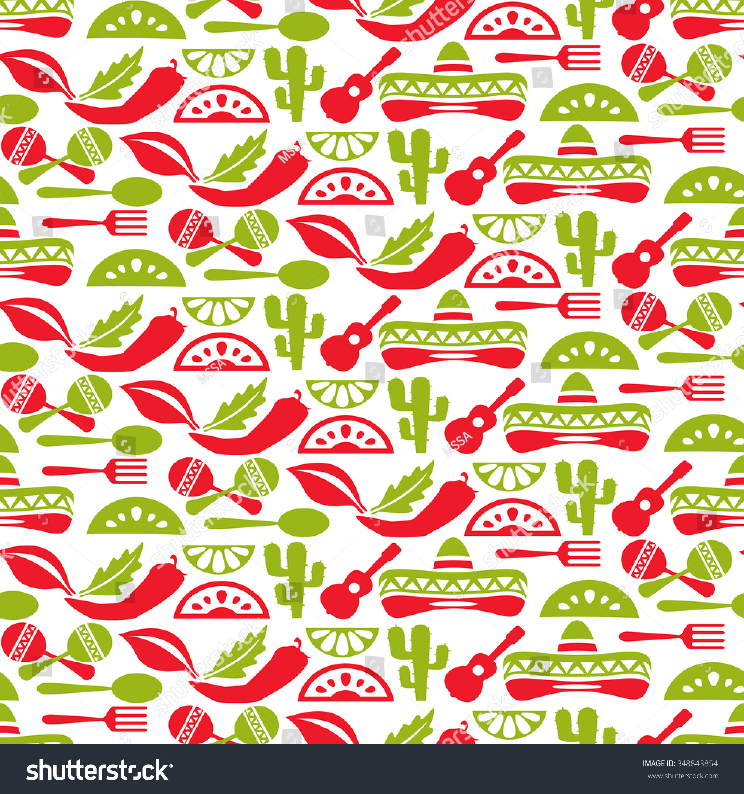 mexican pattern fiesta sombrero seamless background stock