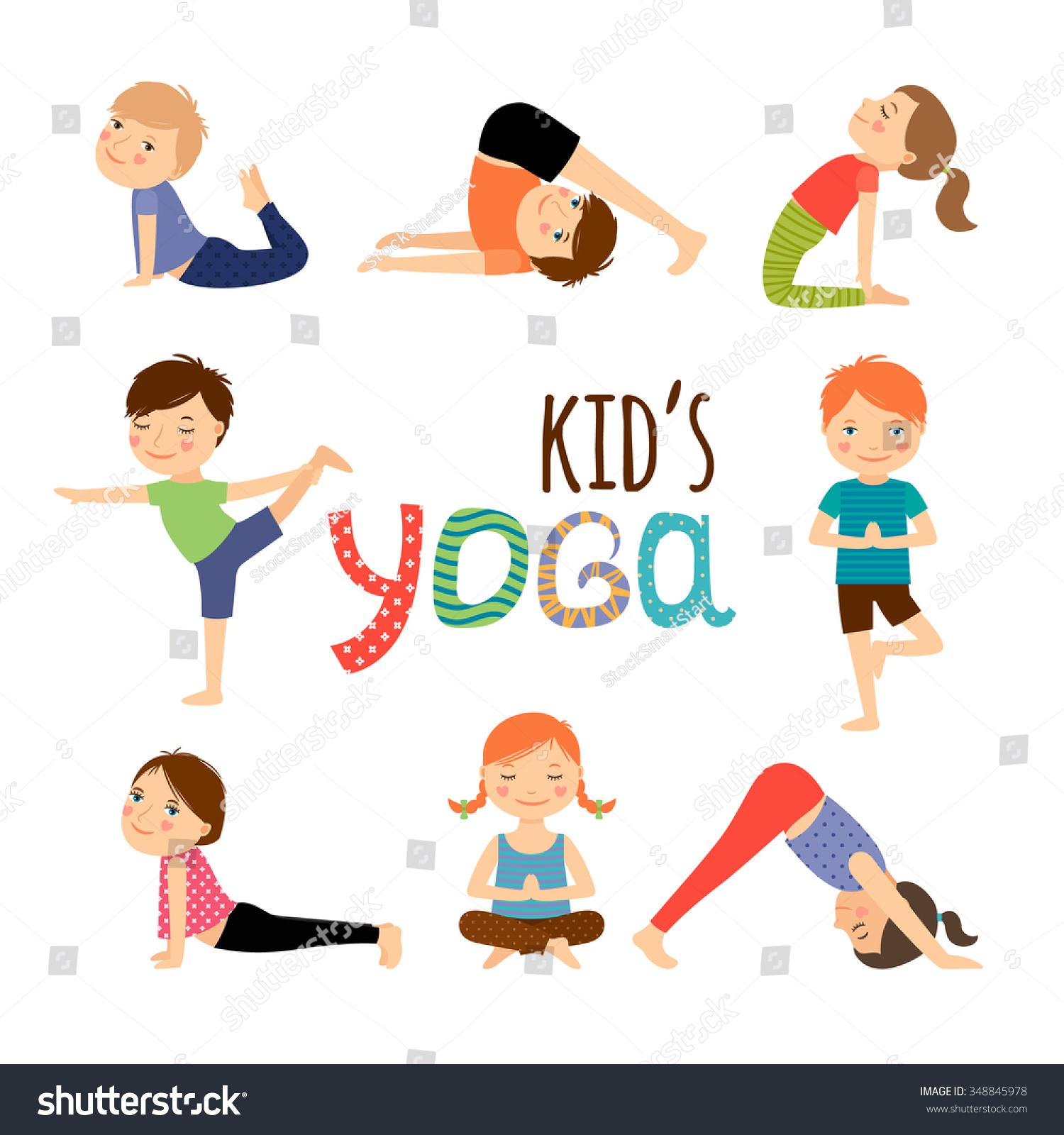 Gallery For gt Yoga Kids Clip Art