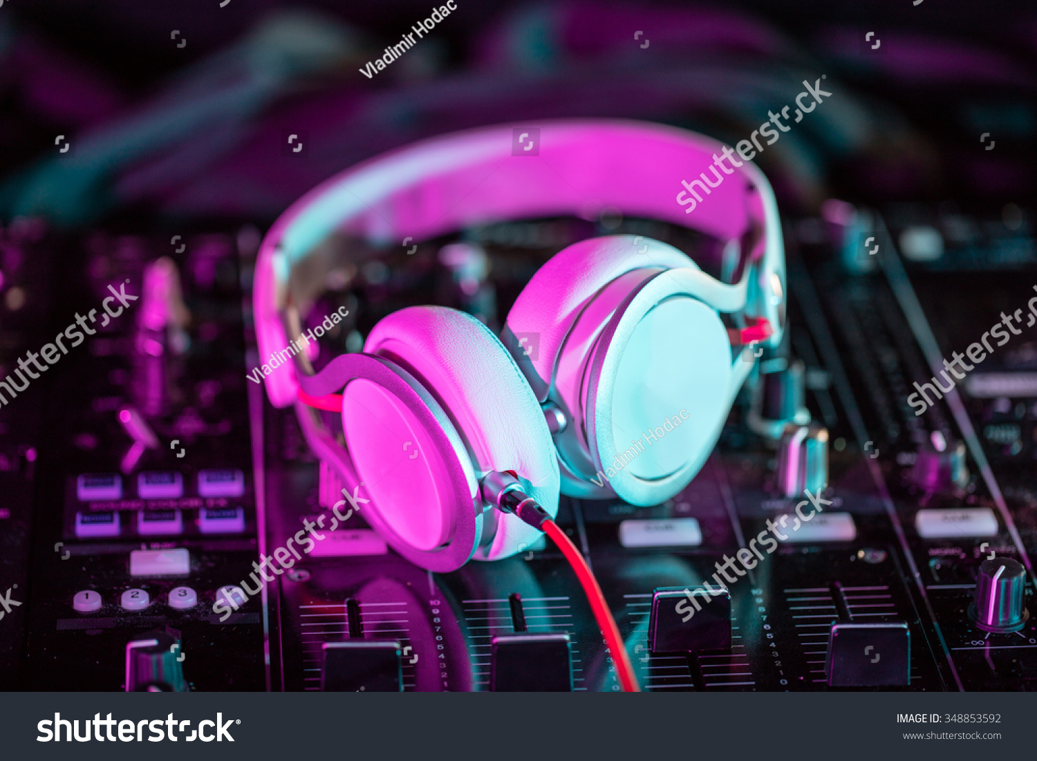 Dj sound equipment nightclubs music festivals stock photo for House music images