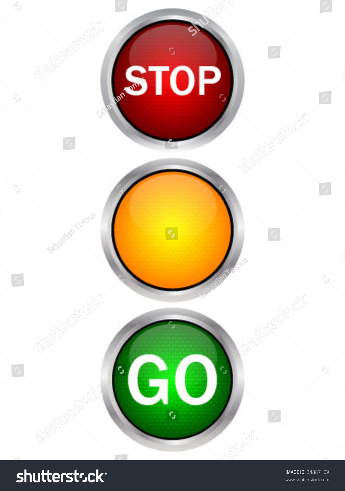 Traffic Light Stock Vector 34887109 Shutterstock