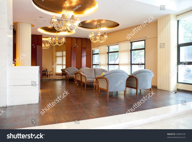 Modern interior hall soft zone stock photo royalty free
