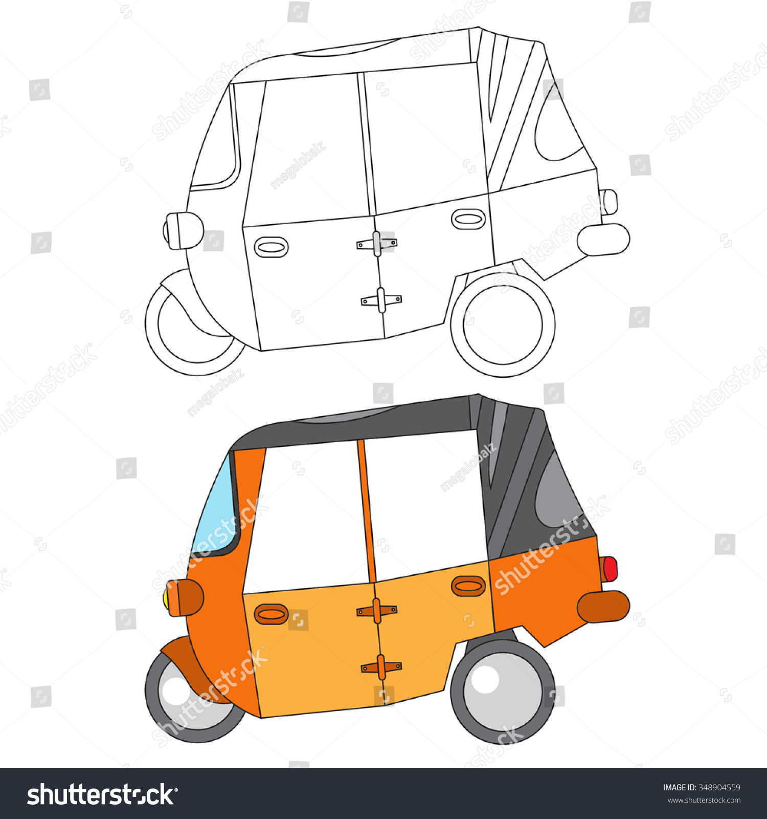 Coloring Car For Kid