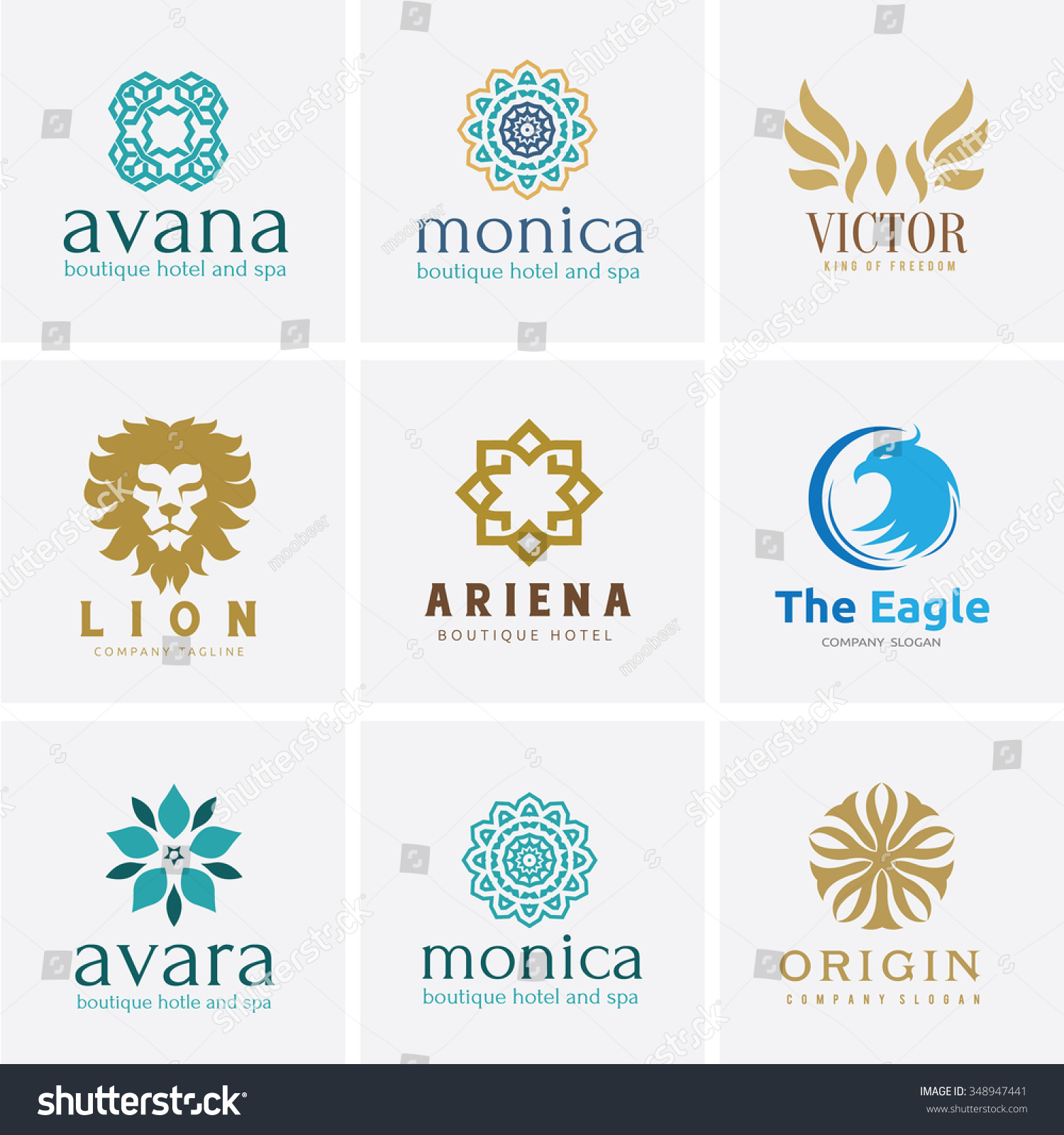 Logo setlogo collectioncrests logohotel logoboutique brand for Boutique hotel logo