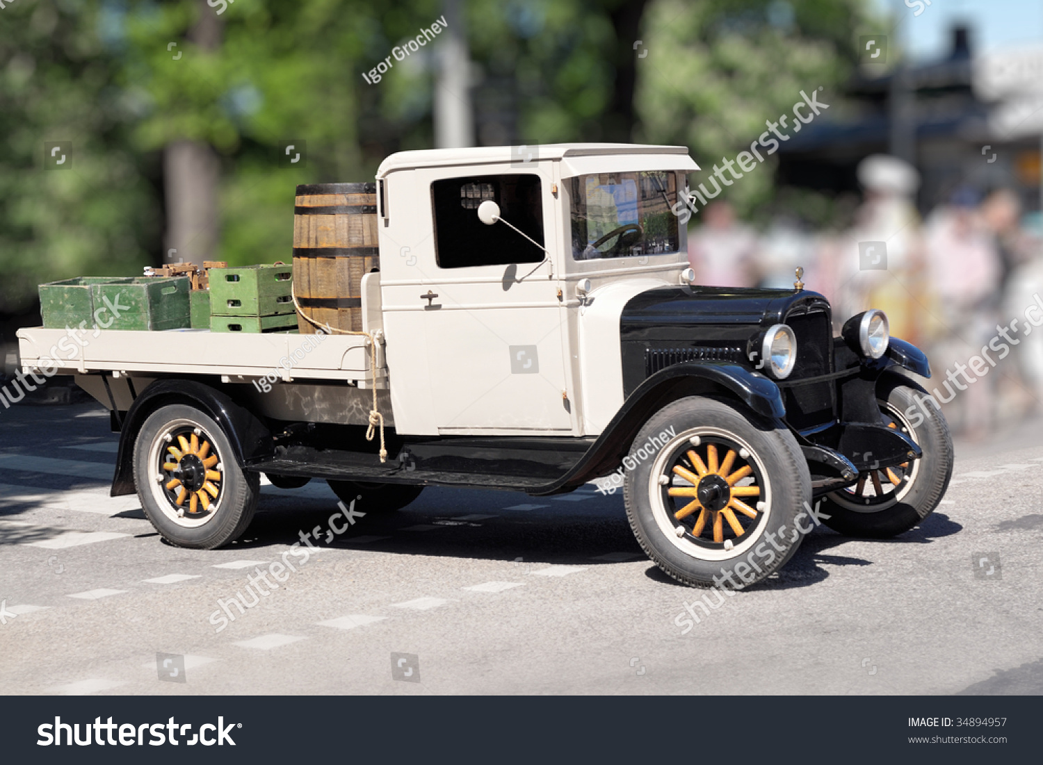 American Oldfashioned Pickup Truck Stock Photo (Royalty Free ...