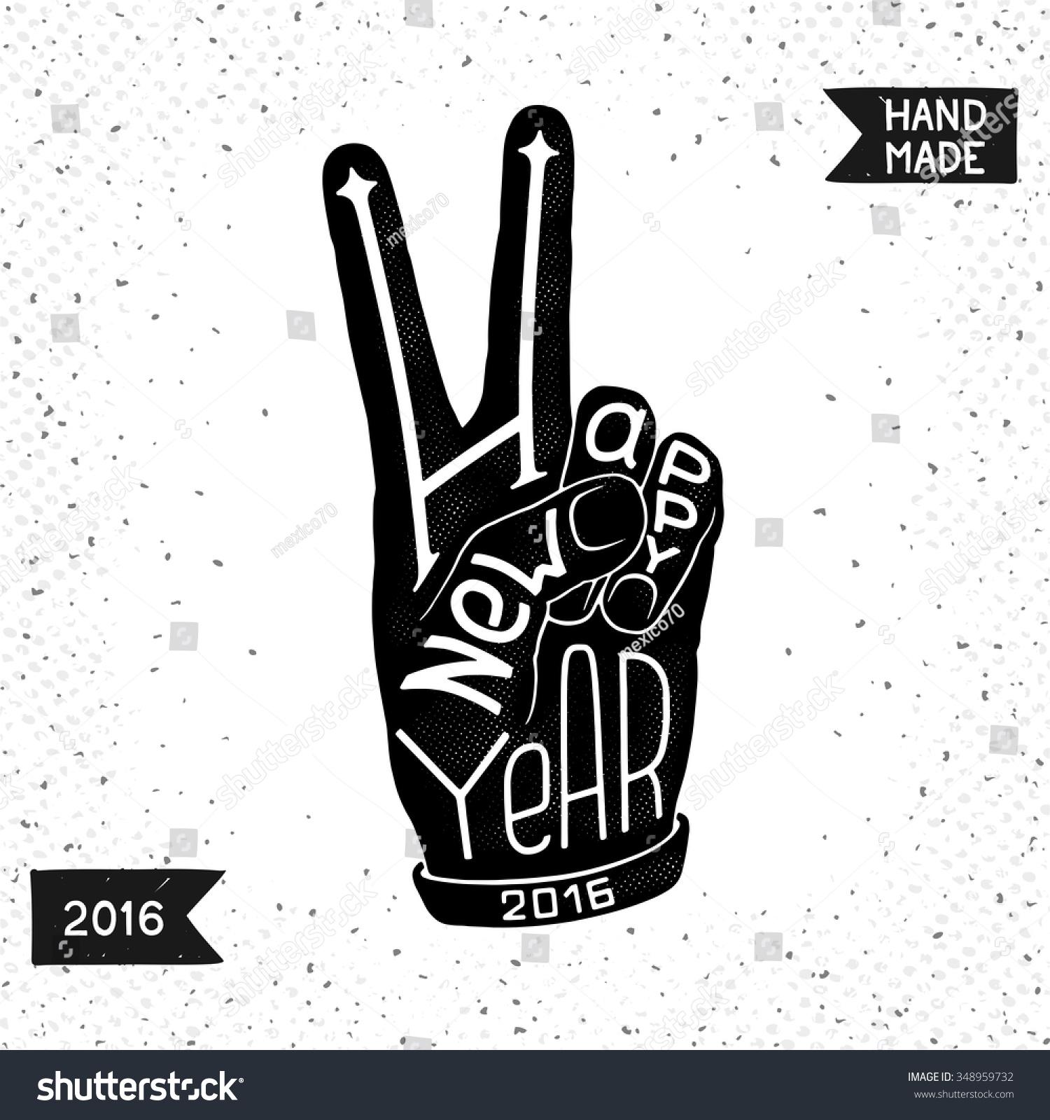 Fun Happy New Year Conceptual Symbol Stock Vector Royalty Free