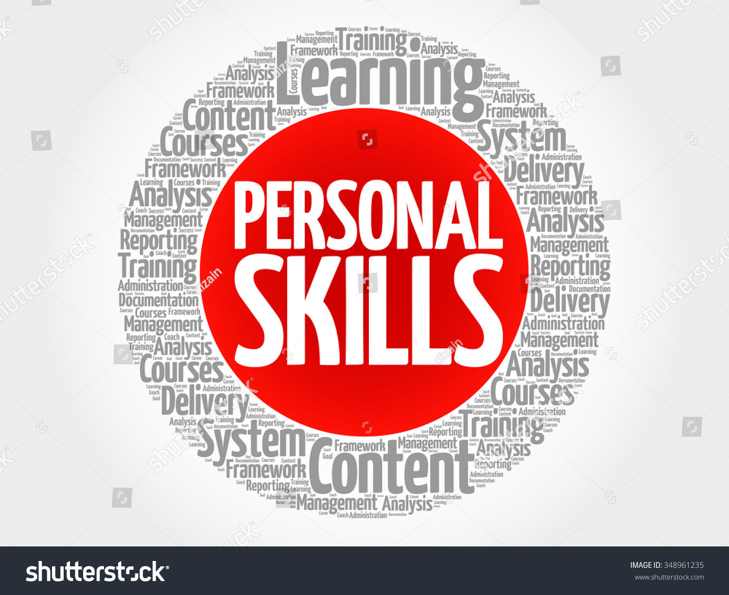 personal skills circle word cloud business stock vector 348961235 personal skills circle word cloud business concept