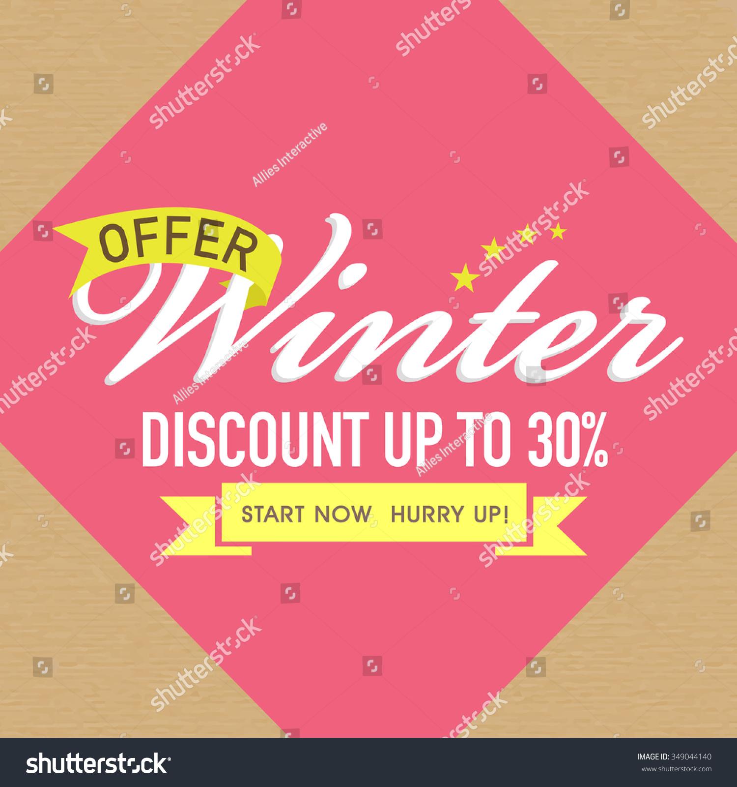 Stylish Poster Banner Flyer Design Winter Vector 349044140 – Sale Flyer Design
