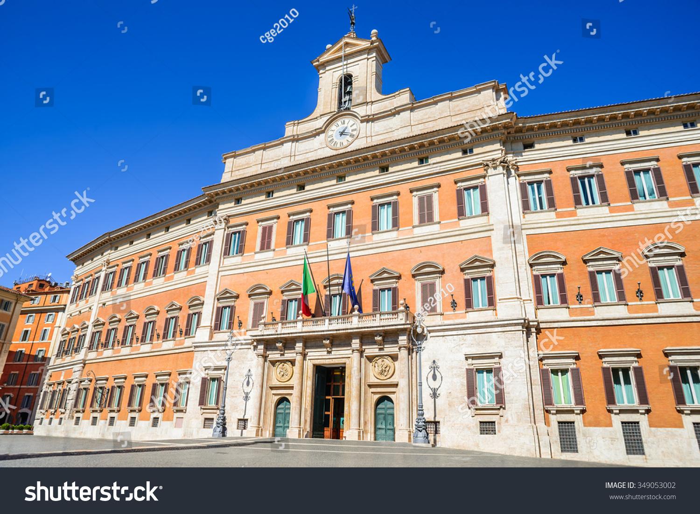 Palazzo montecitorio building rome where seat foto d for Parlamento montecitorio
