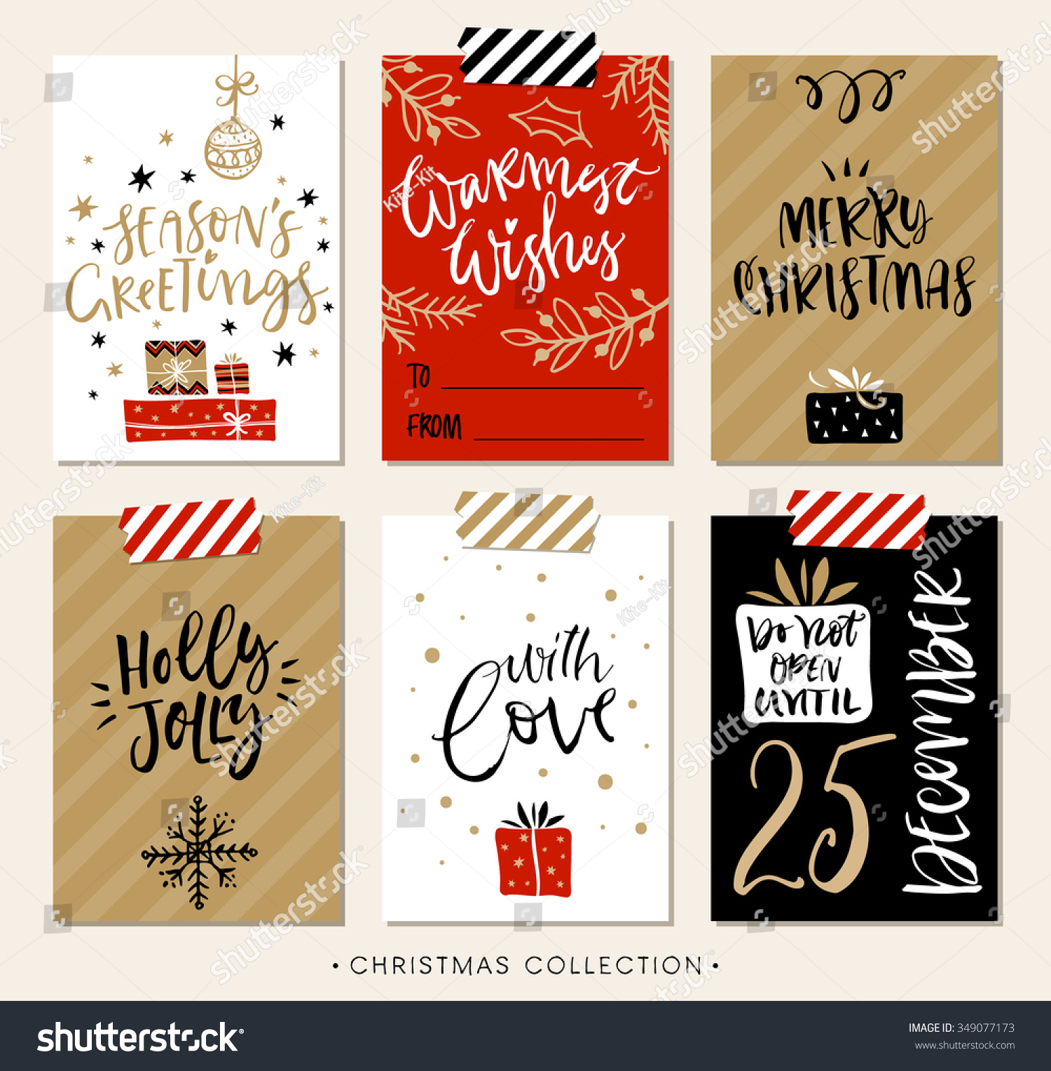 Christmas gift tags cards calligraphy hand christmas gift tags cards calligraphy hand 349077173 shutterstock negle Gallery