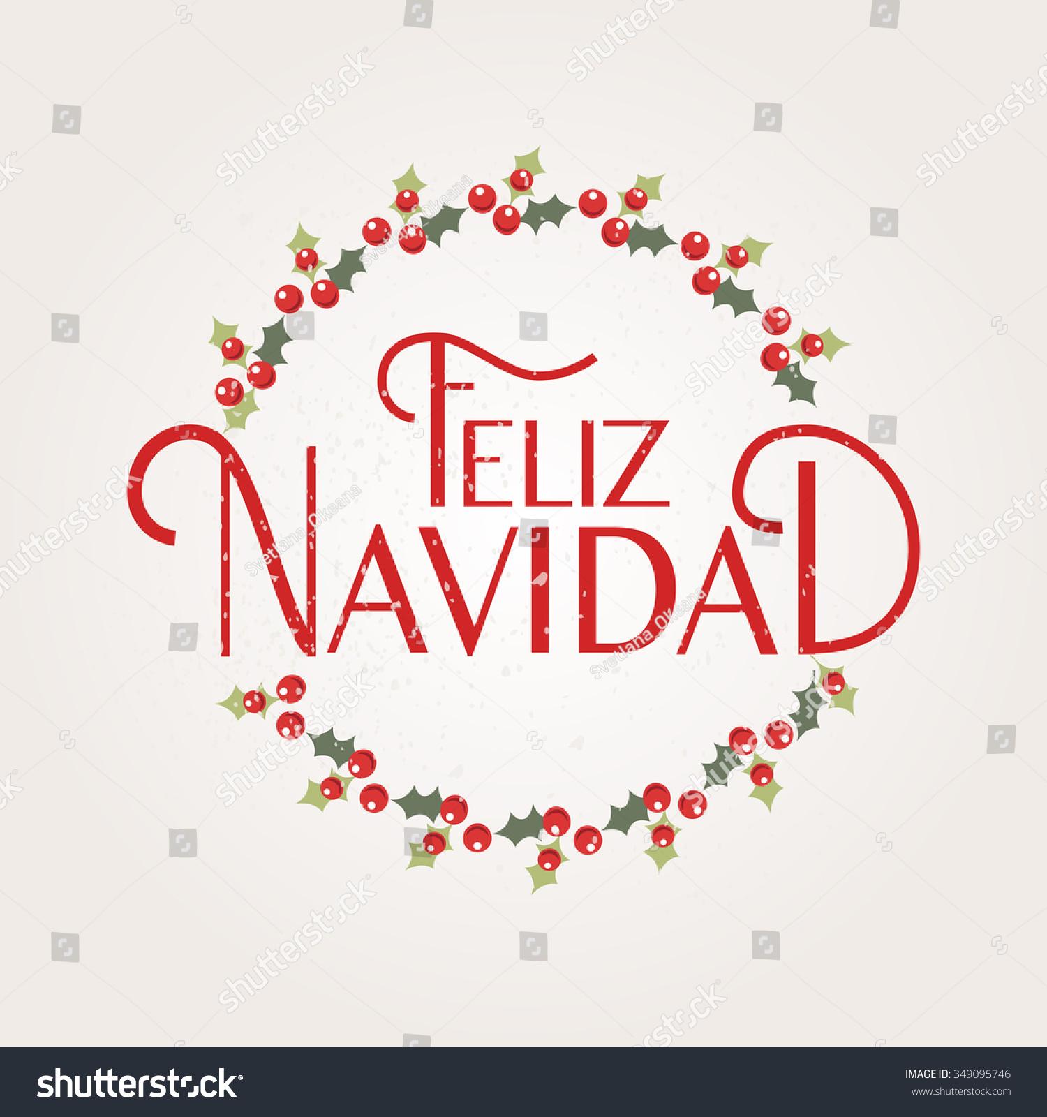 Hand Sketched Feliz Navidad Nappy New Stock Vector (Royalty Free ...
