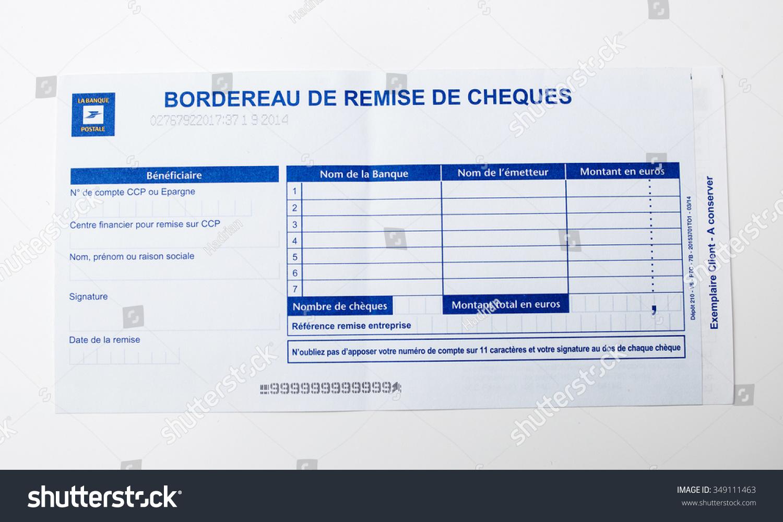 Prix Cheque De Banque Banque Postale : paris france january 14 2015 bordereau de remise de cheques on white background issued by ~ Medecine-chirurgie-esthetiques.com Avis de Voitures