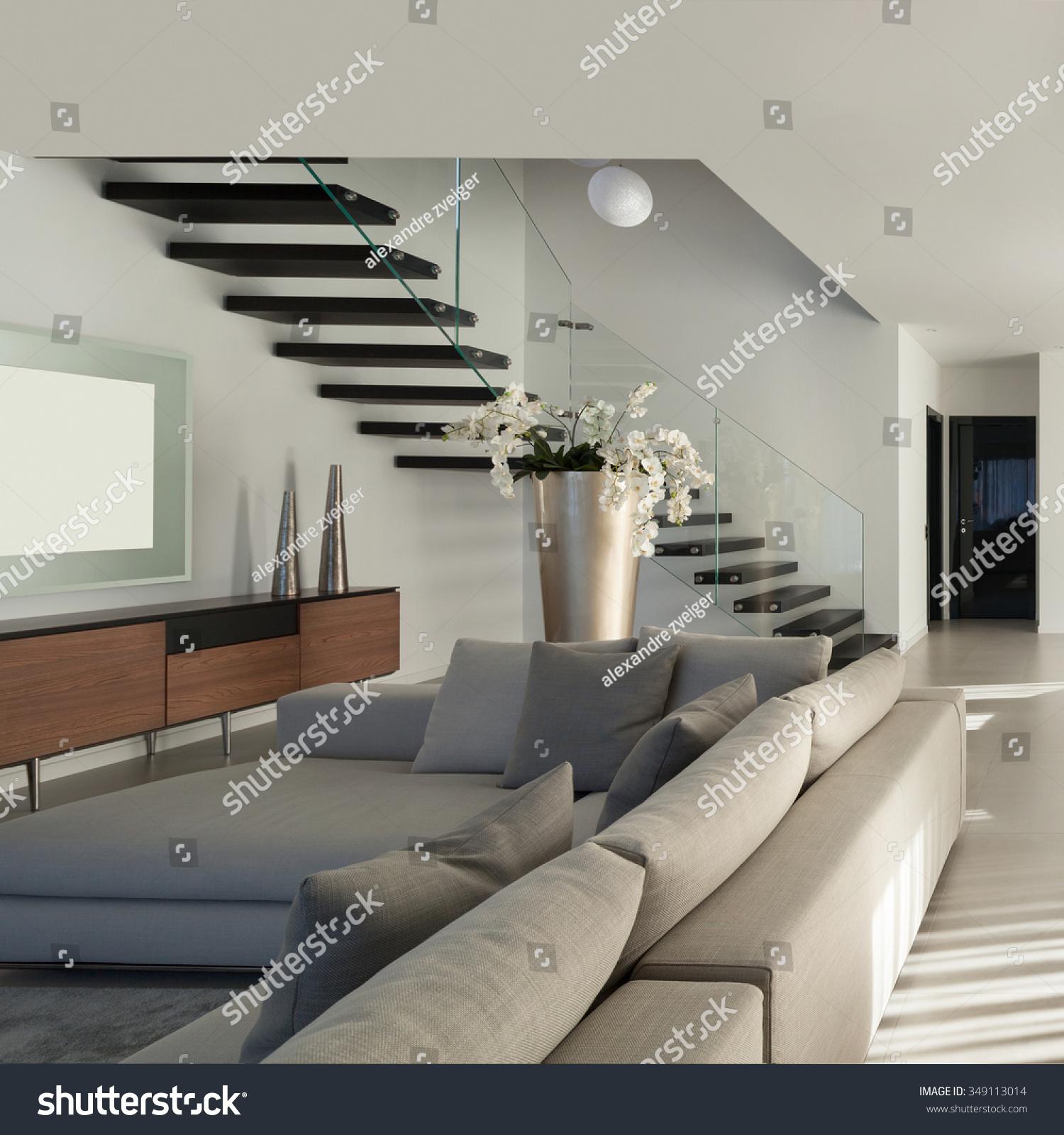 Interior Of A Modern Apartment Comfortable Living Room Stock Photo