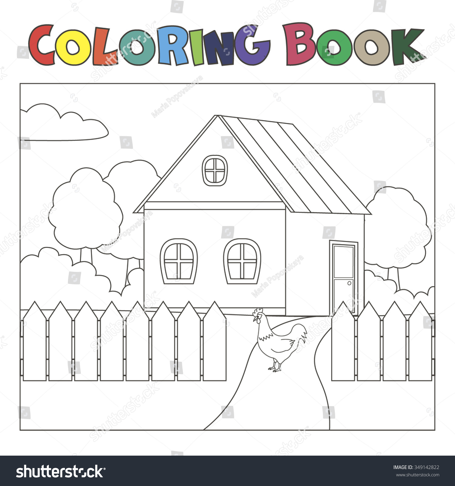 92 Coloring Book Picture Of The White House