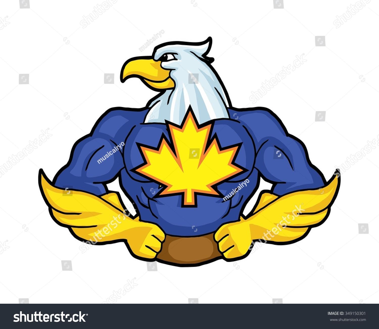 Super Hero Hawk Logo Icon Vector Stock Vector 349150301 ...