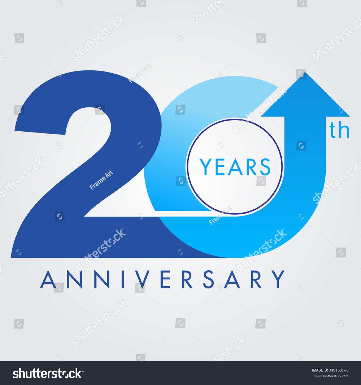 Template logo 20th anniversary vector illustrator celebration logo color number design - Color of th anniversary ...