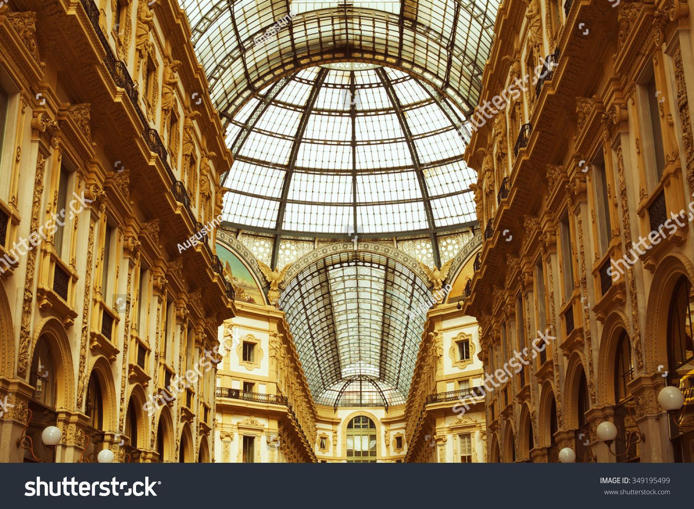 Fashion industry gallery - Heart Of Italian Fashion Industry Vittorio Emanuele Ii Gallery In Milan
