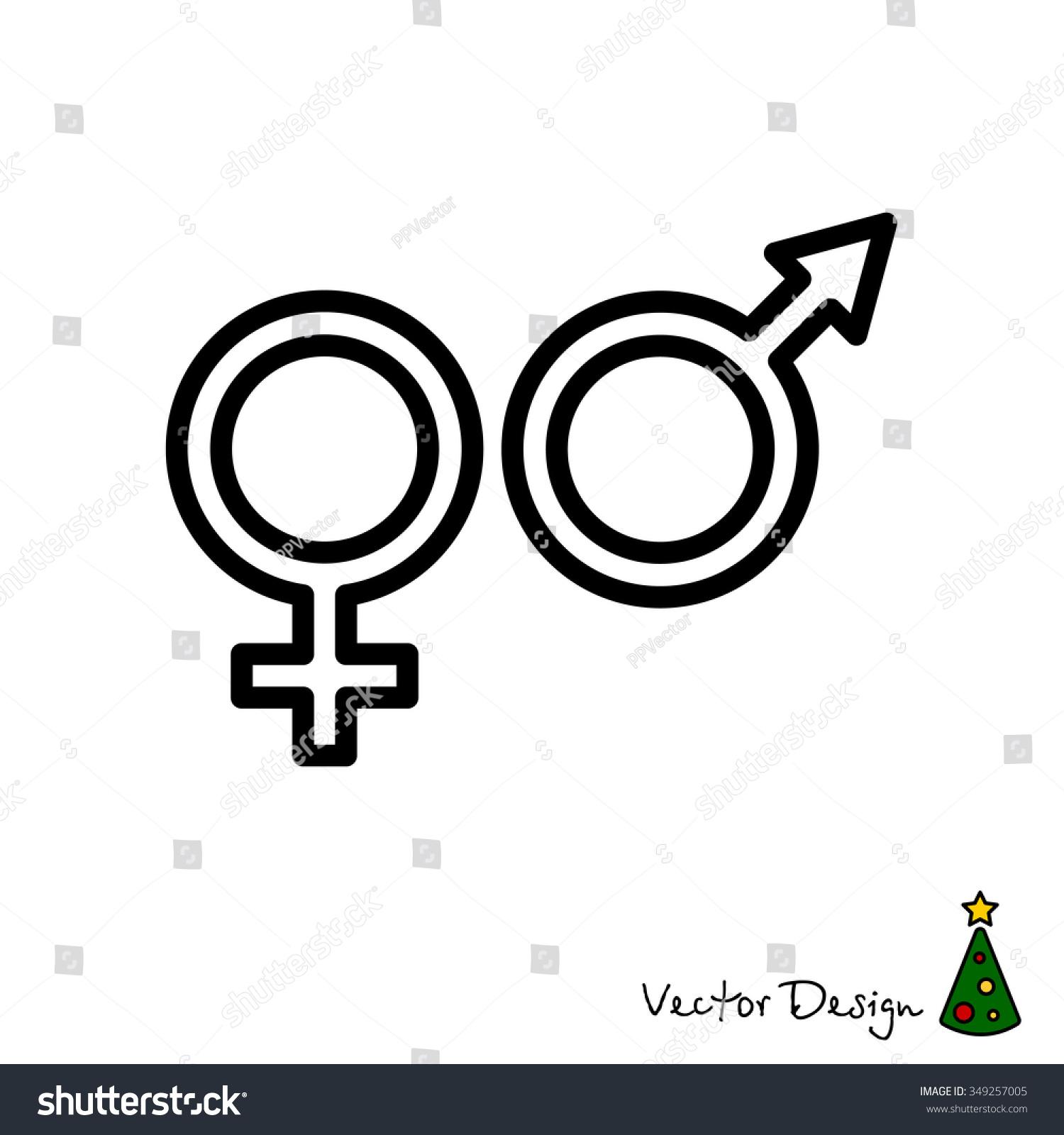 Web line icon gender symbol symbols stock vector 349257005 gender symbol symbols of men and women buycottarizona