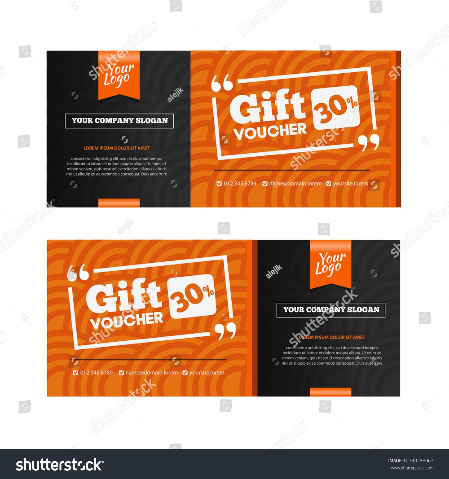 Two Coupon Vouchers Design Gift Voucher Vector 349288067 – Discount Voucher Design