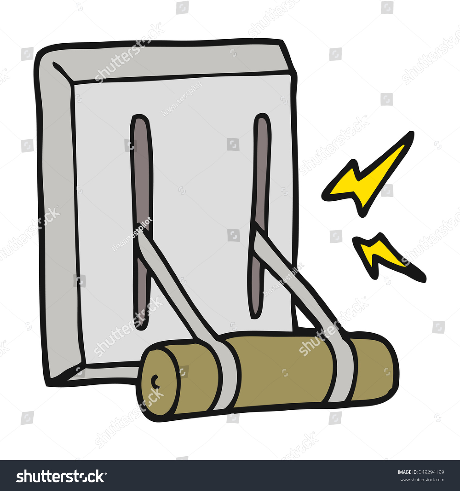 Cartoon Lever Switch : Freehand drawn cartoon electrical switch stock vector