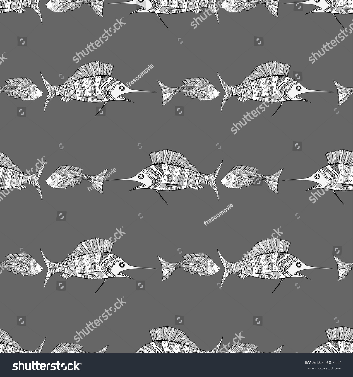 Seamless fish background vector illustration image stock for Seamless fish tank