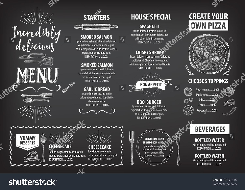 Vector Restaurant Brochure Menu Design Vector Vector – Restarunt Brochure