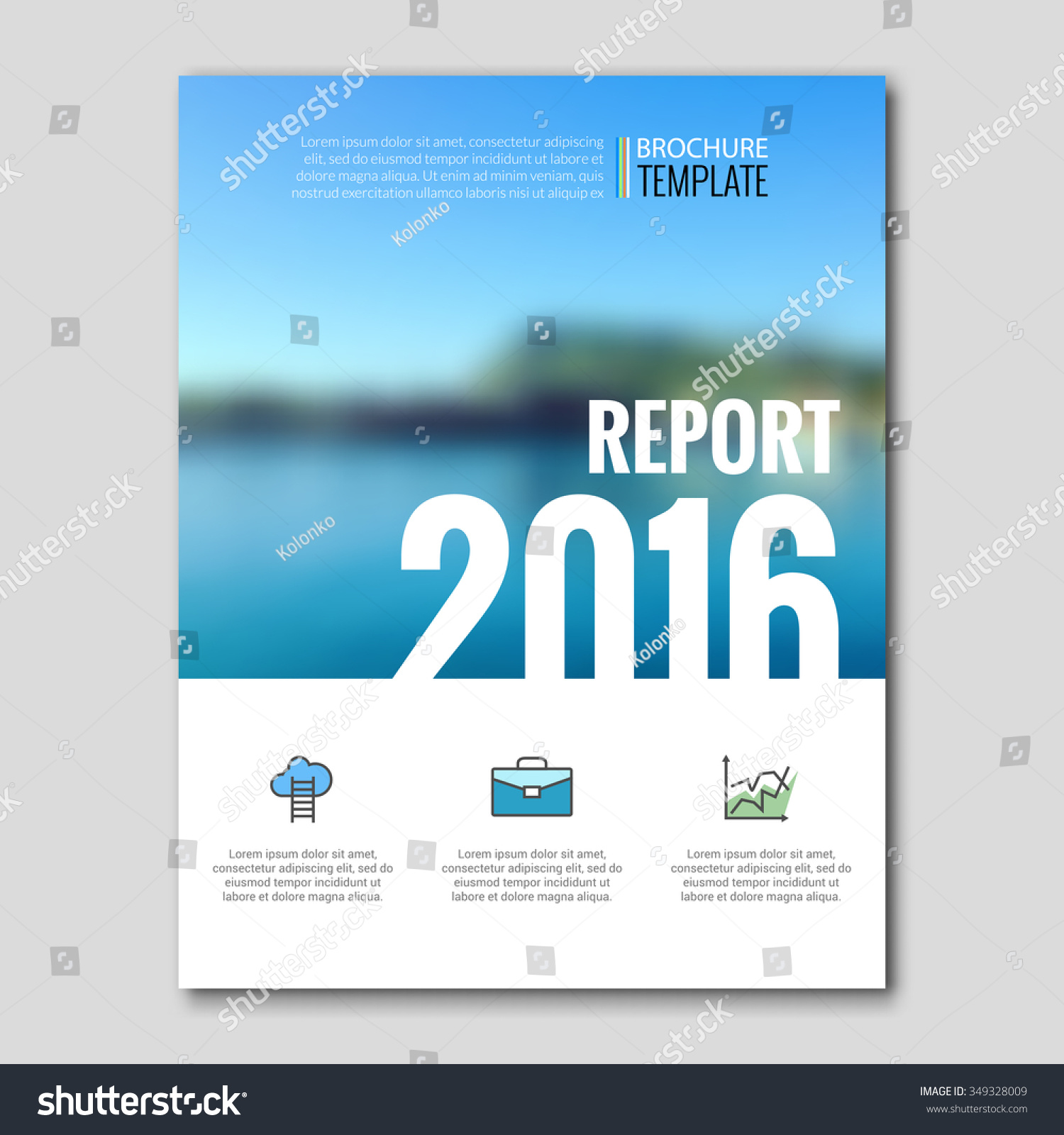Business Templates Brochure Flyer Report Booklet Stock Vector - Template for brochure