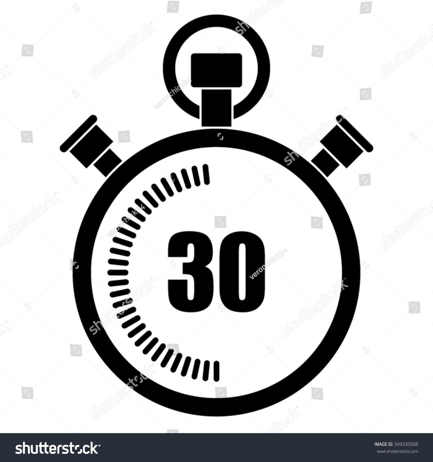 Stopwatch Vector Icon 30 Seconds Stock Vector 349330508 - Shutterstock