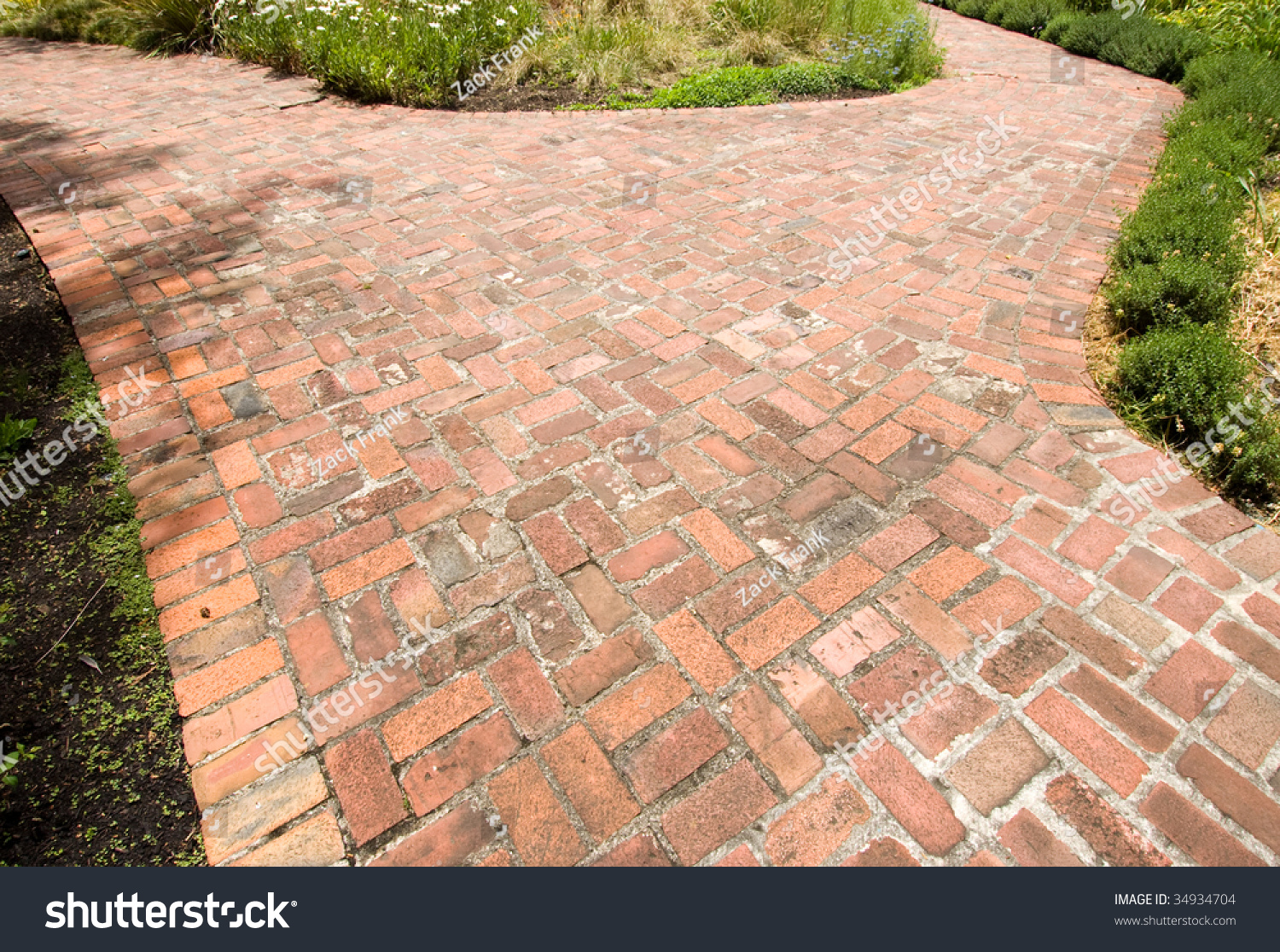 Luther Burbank Home And Gardens Brick Path Stock Photo