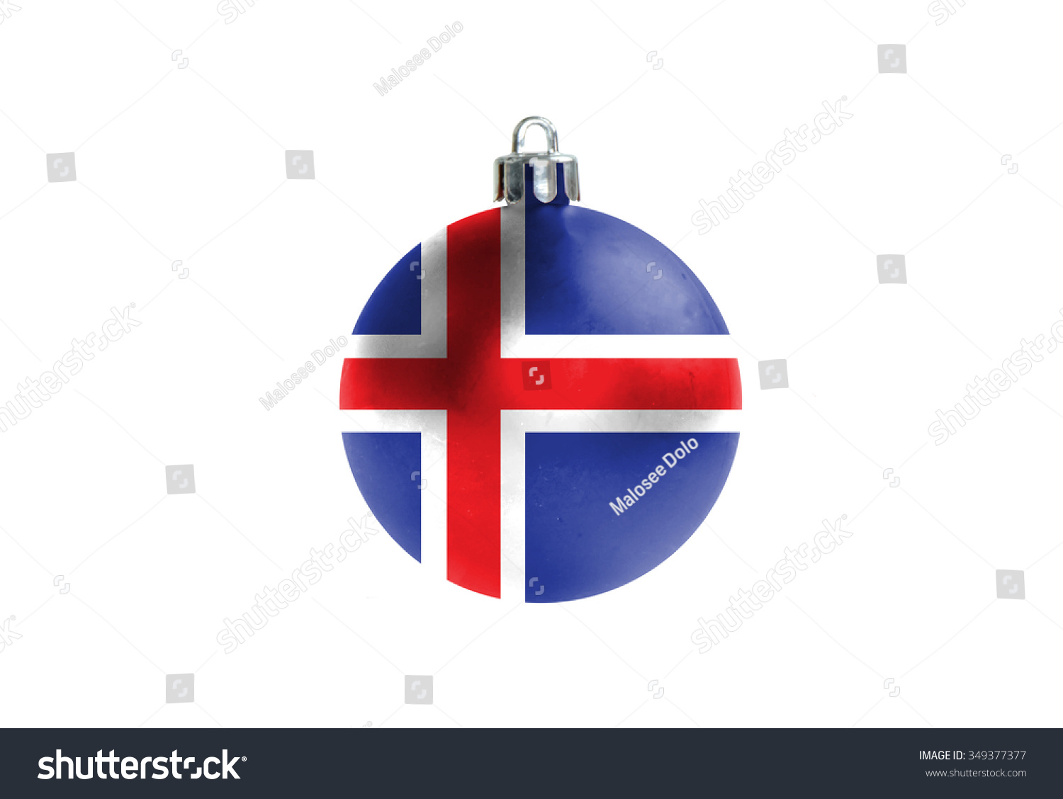 Glossy Christmas Ball National Colors Iceland Stock Illustration ...