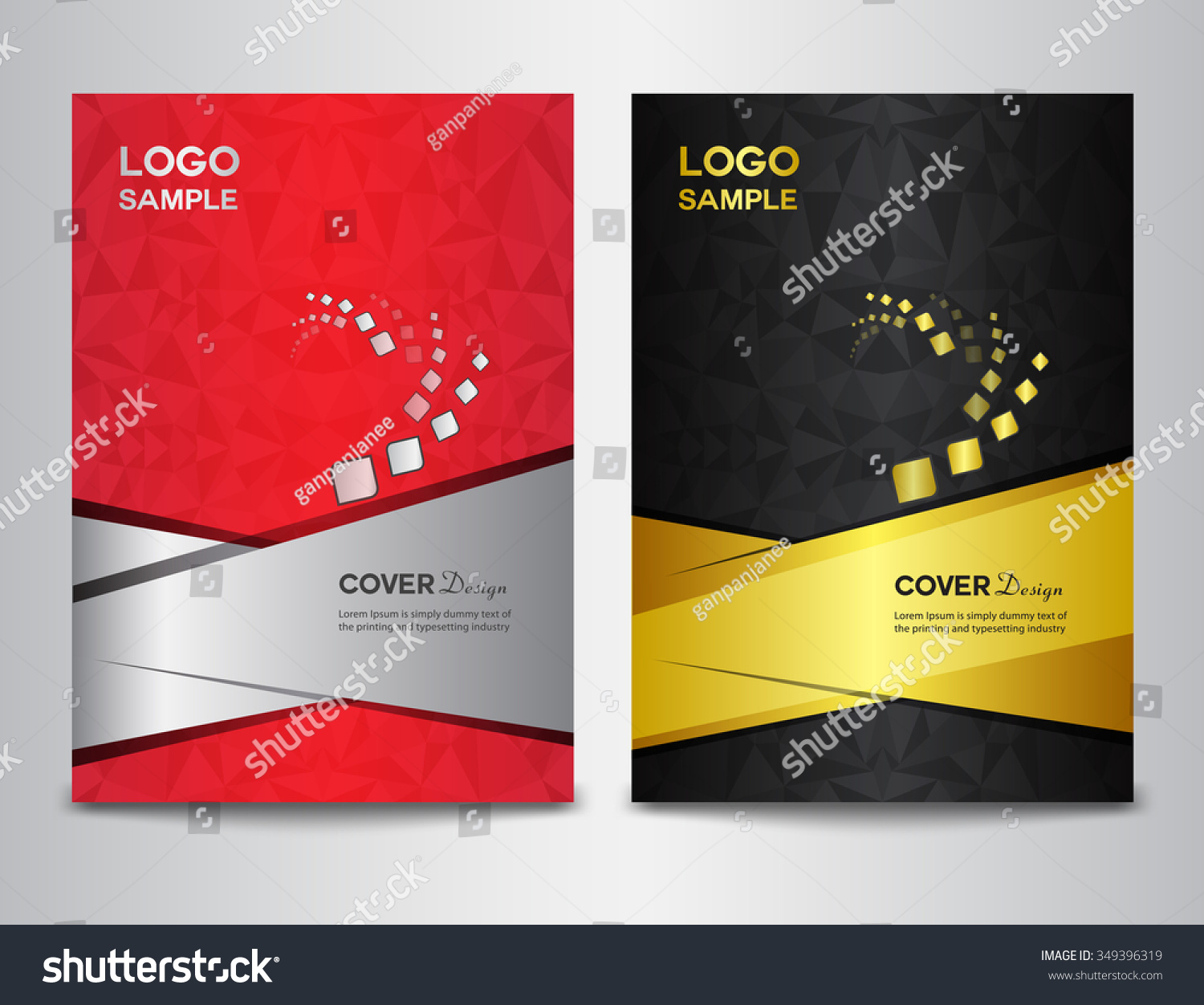 Brochure Booklet Flyer Or Book Cover Template Vector : Set cover design template vector illustration stock