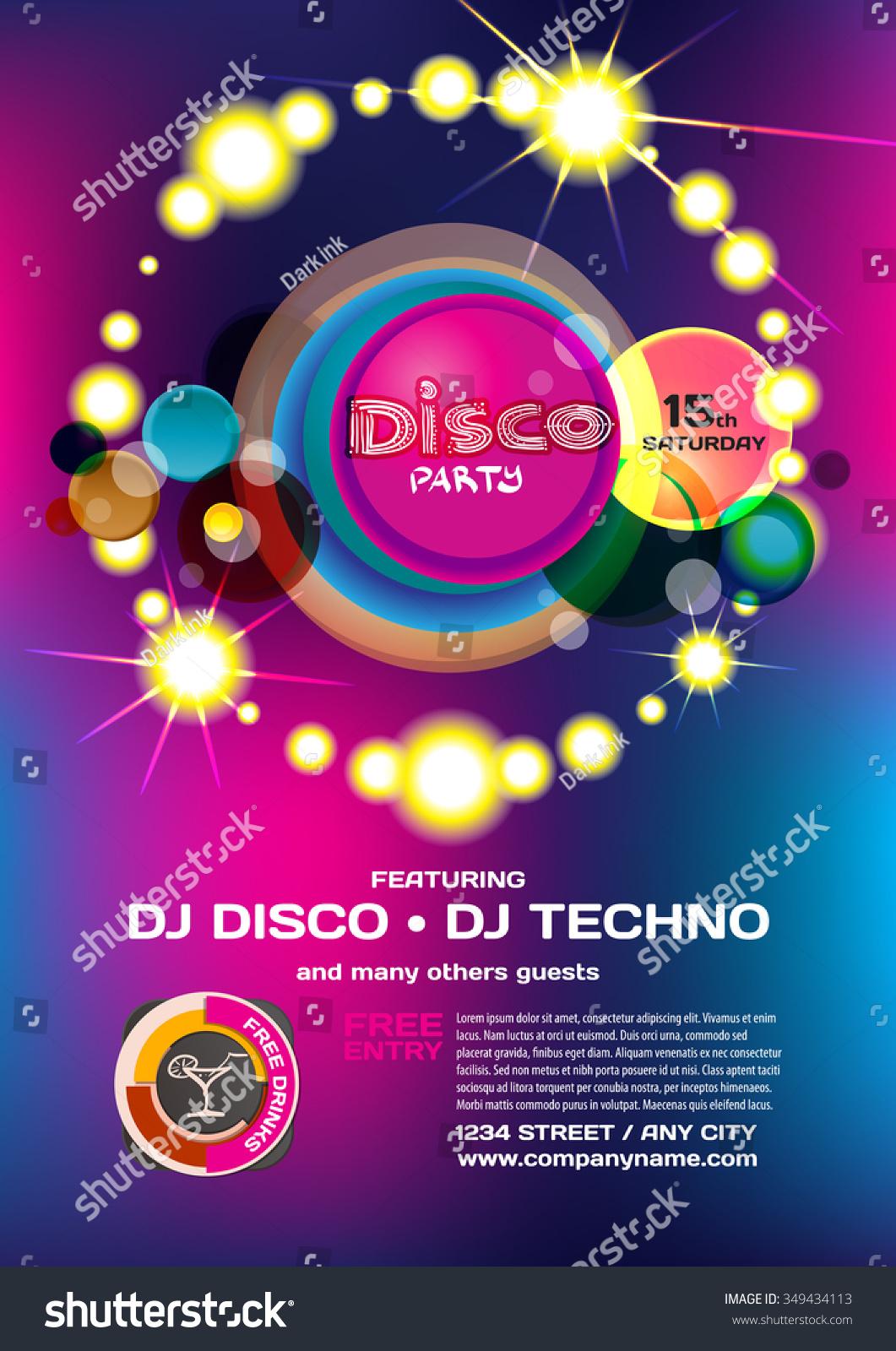 disco invitations free printable - Jcmanagement.co