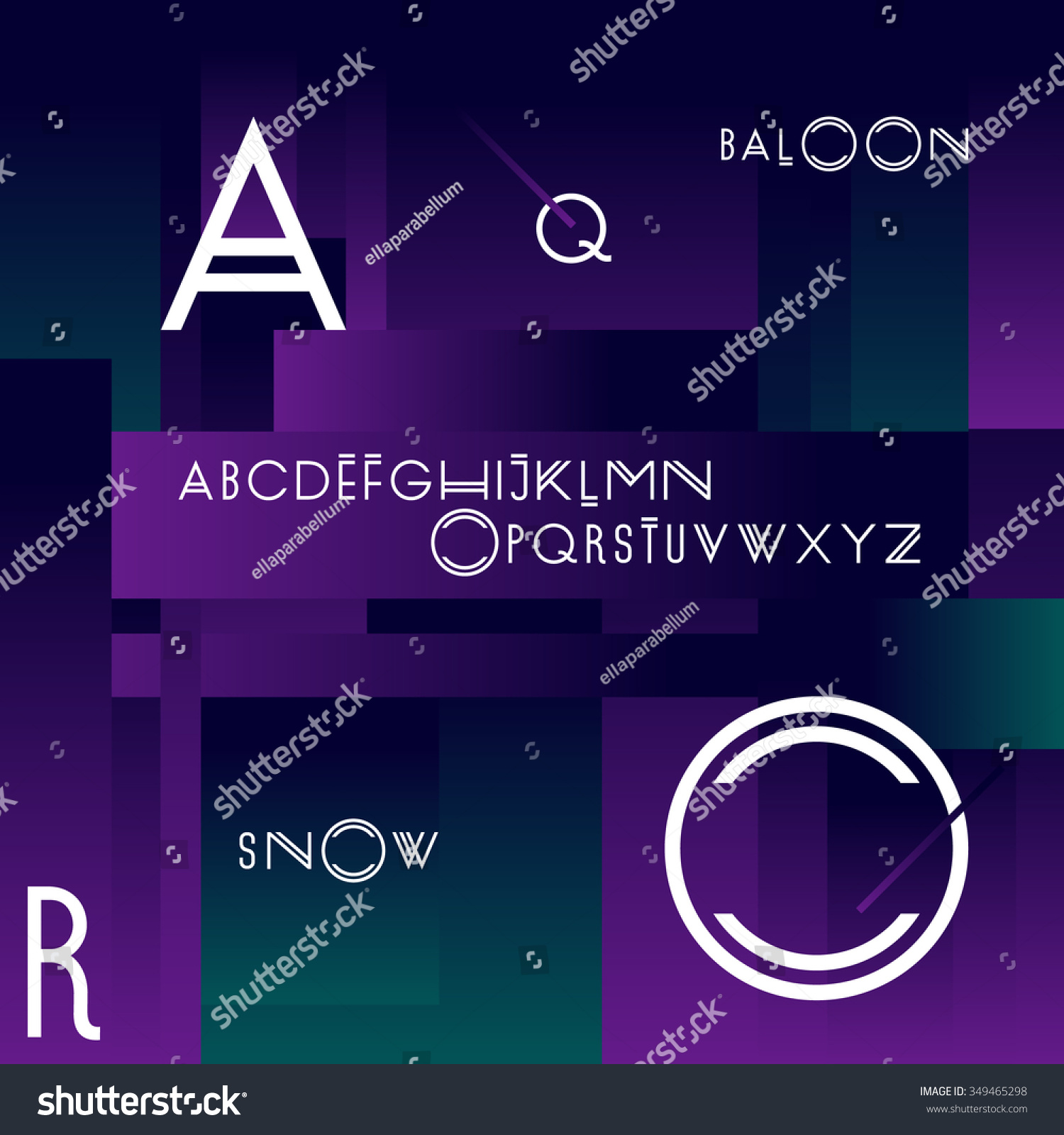 Modern Fonts Stock Vector (Royalty Free) 349465298