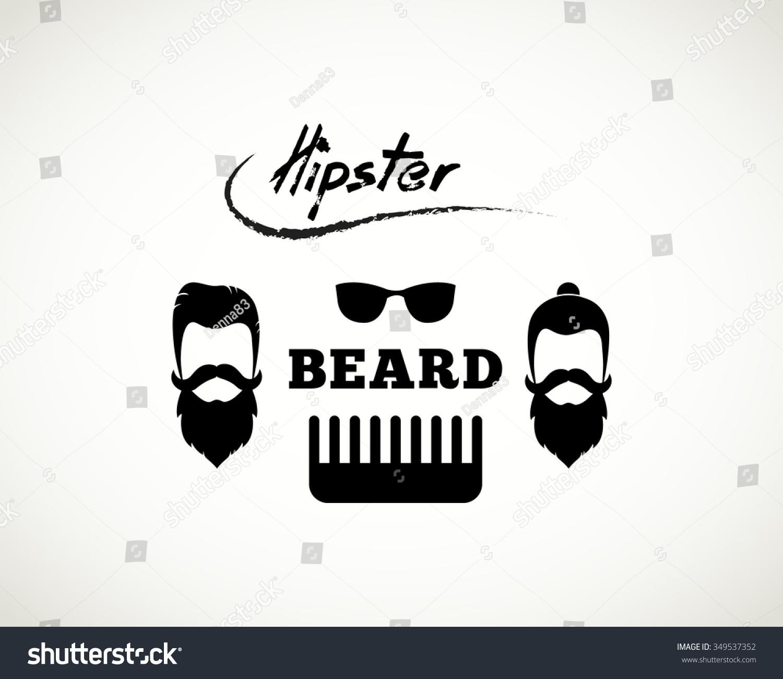 Retro Hipster Logo Beard Mustache Stock Vector 349537352 ...