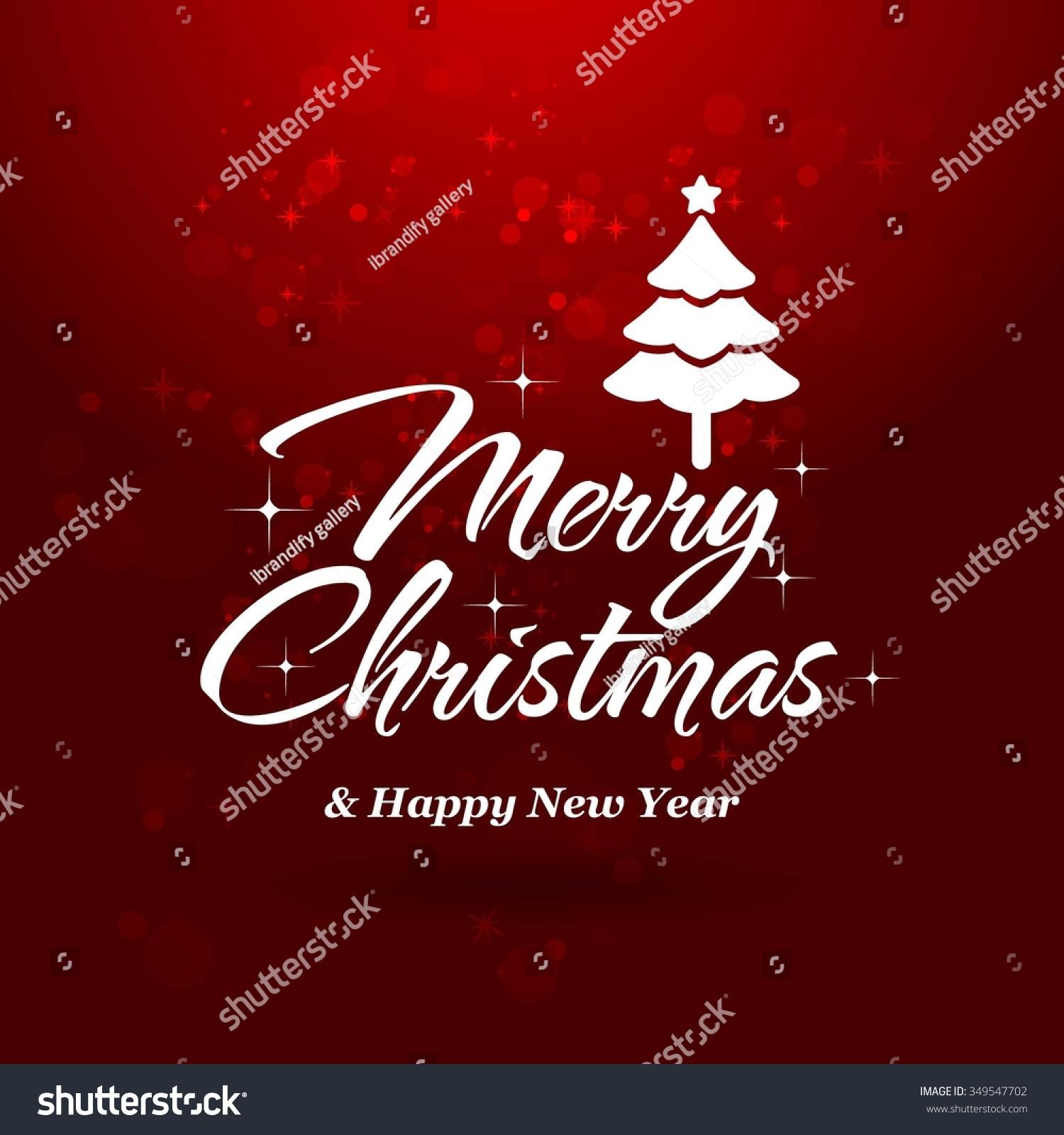 Christmas Greeting Card Light Tree Vector Stock Vector Royalty Free