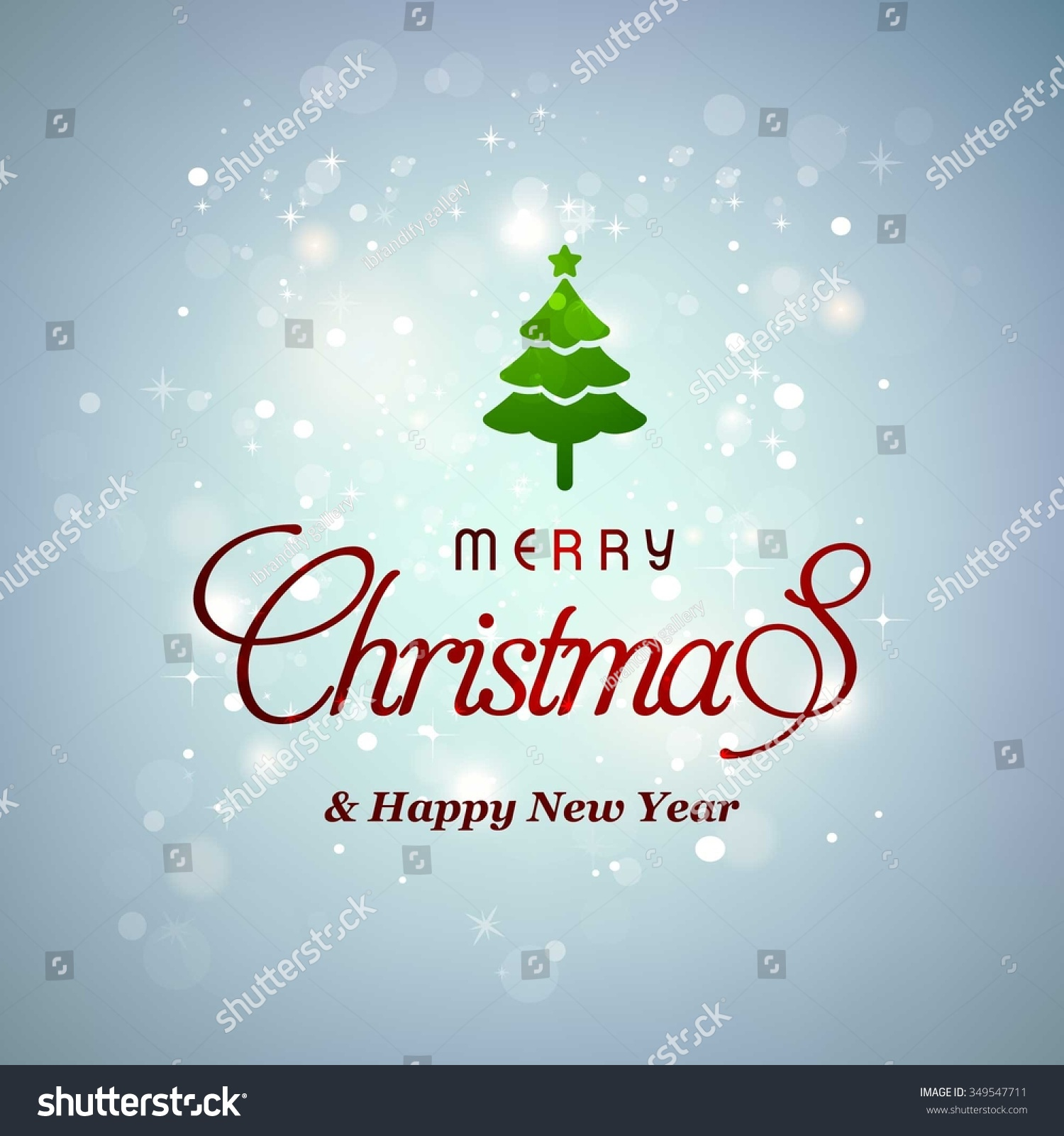 Vector Christmas New Year Greeting Card Stock Vector 349547711