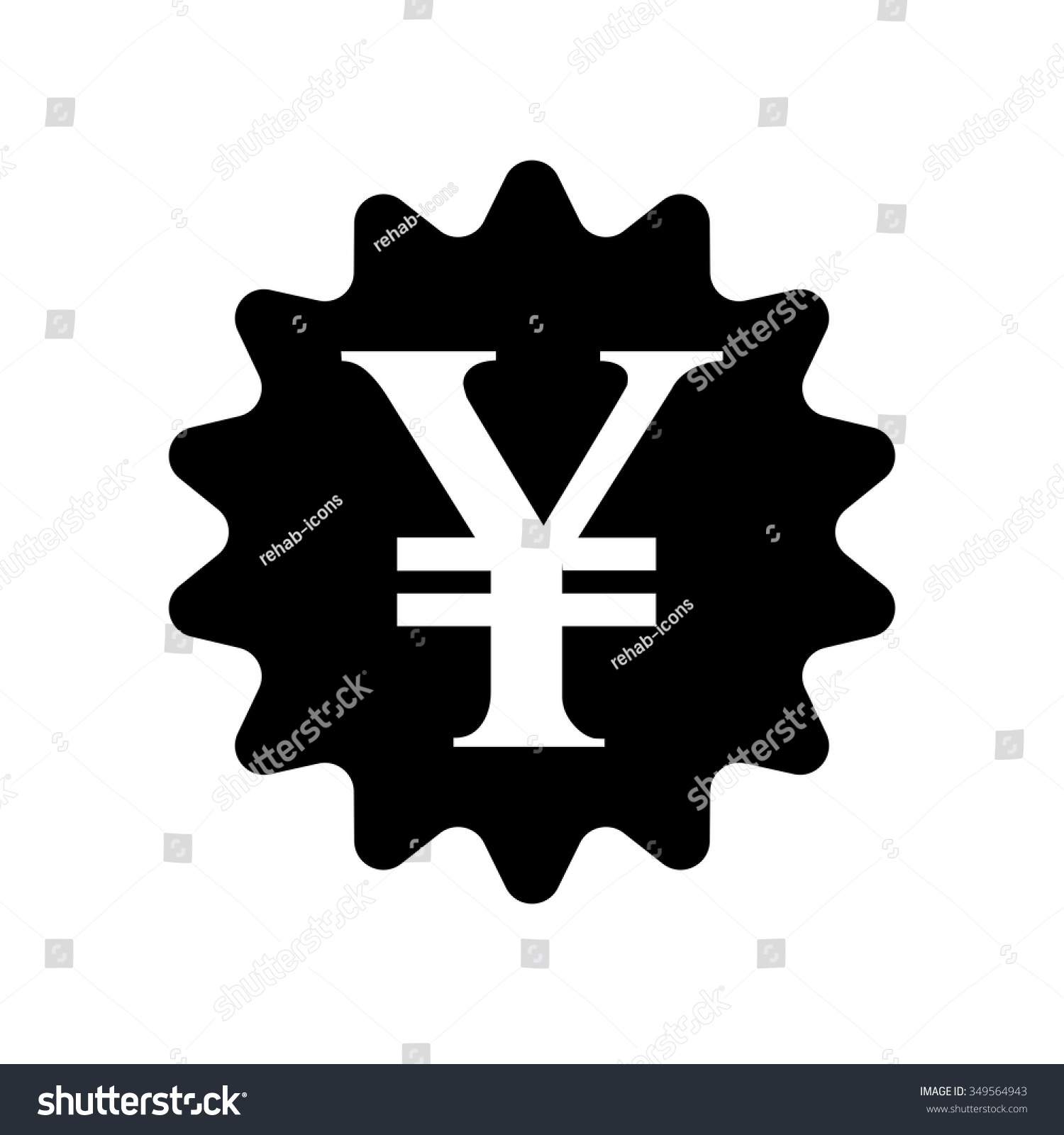 Yen sign icon jpy currency symbol stock vector 349564943 yen sign icon jpy currency symbol money button biocorpaavc