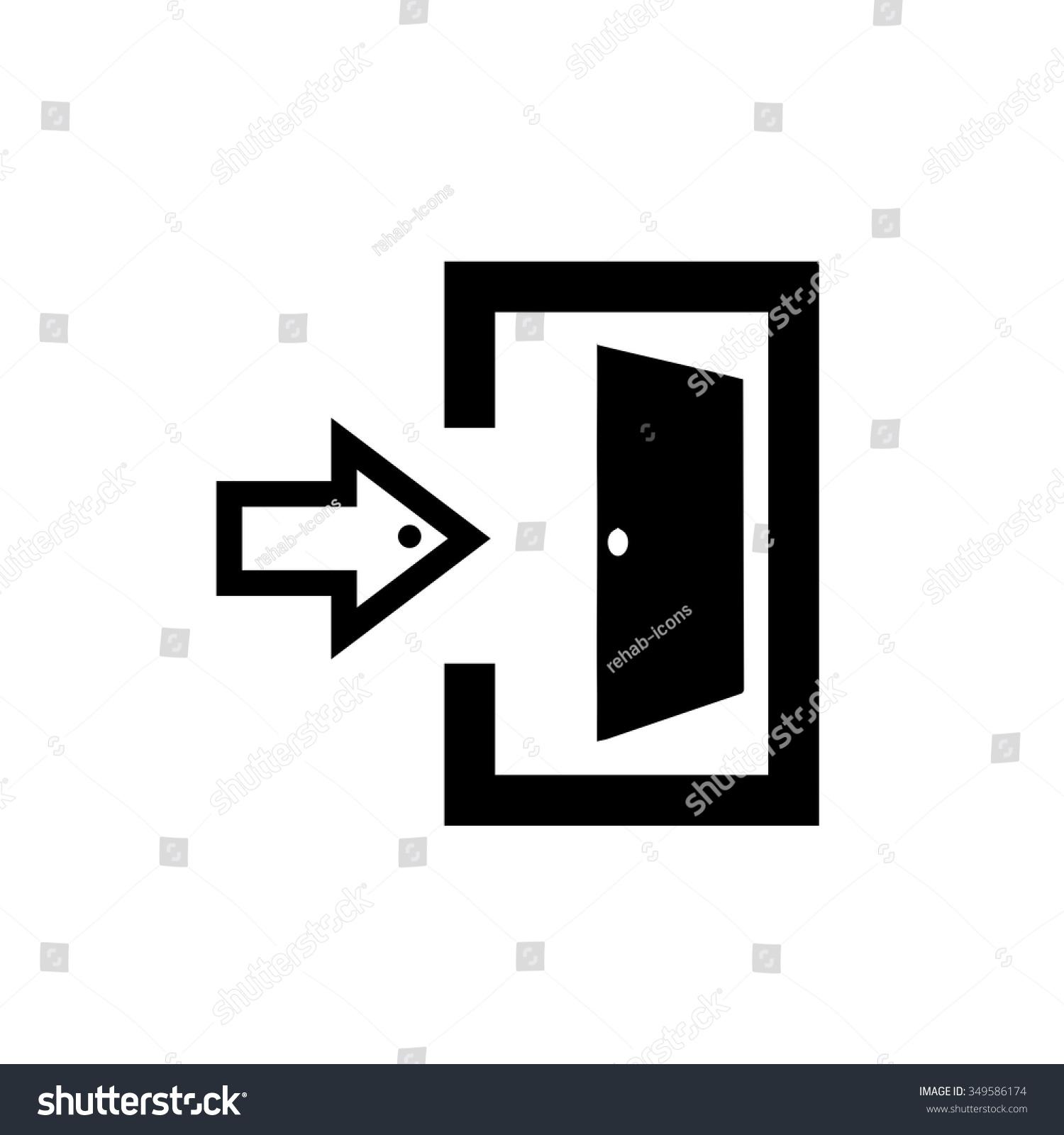 door symbol exit door symbol free icon sc 1 st freepik