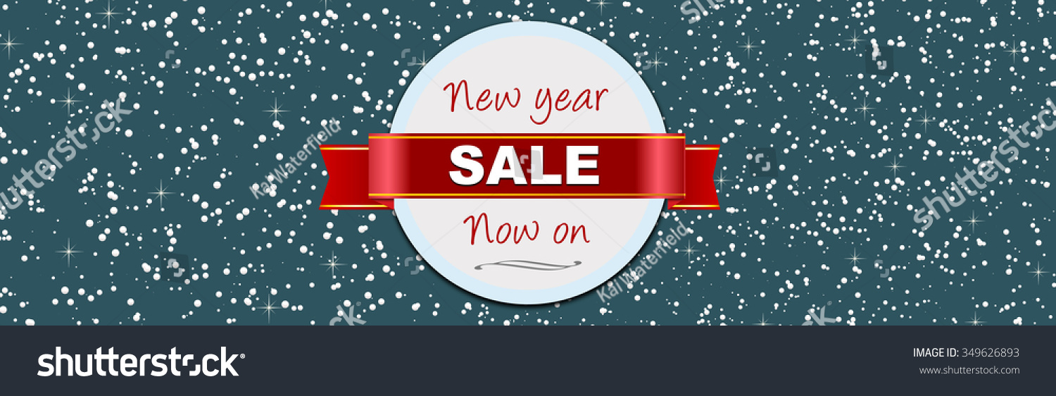 new year january sale web banner for christmas
