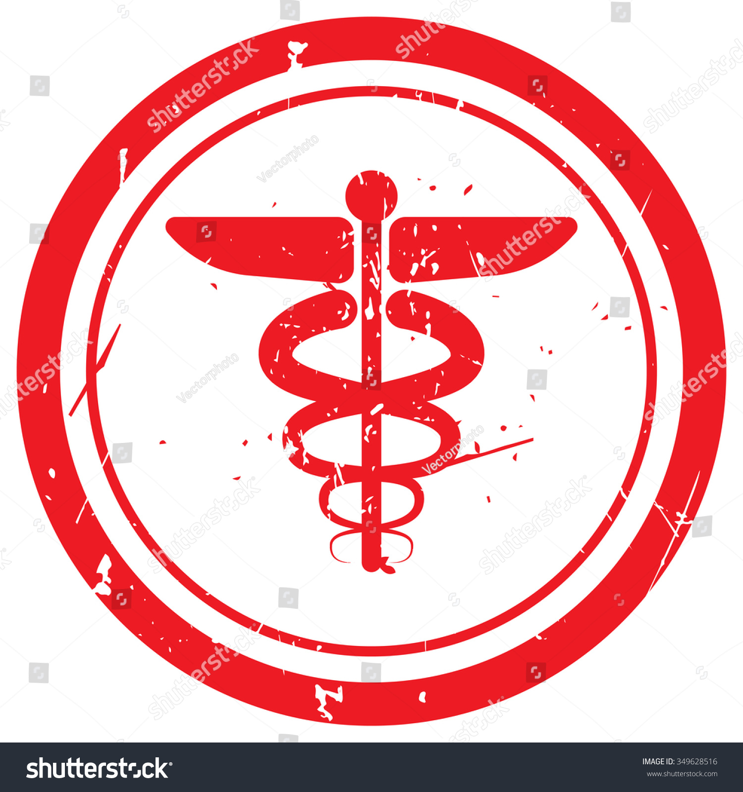 Red Medical Symbol Rubber Stamp Stock Vector Royalty Free