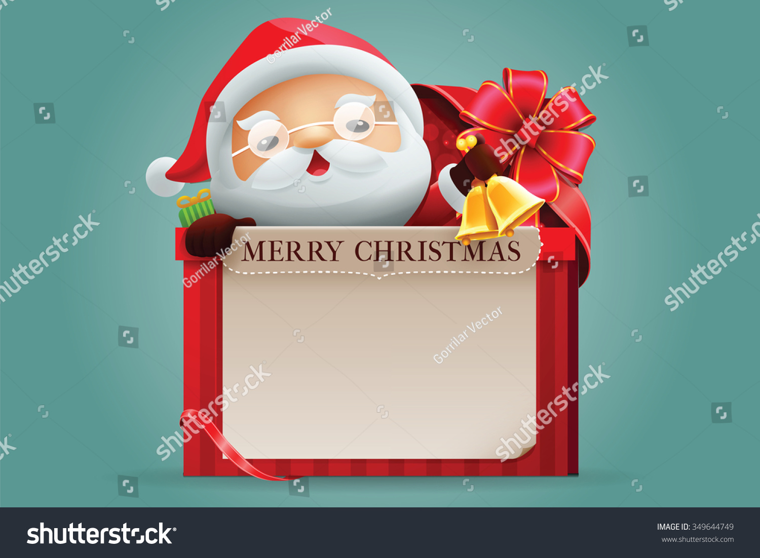 Merry Christmas Gift Card Stock Vector (Royalty Free) 349644749 ...