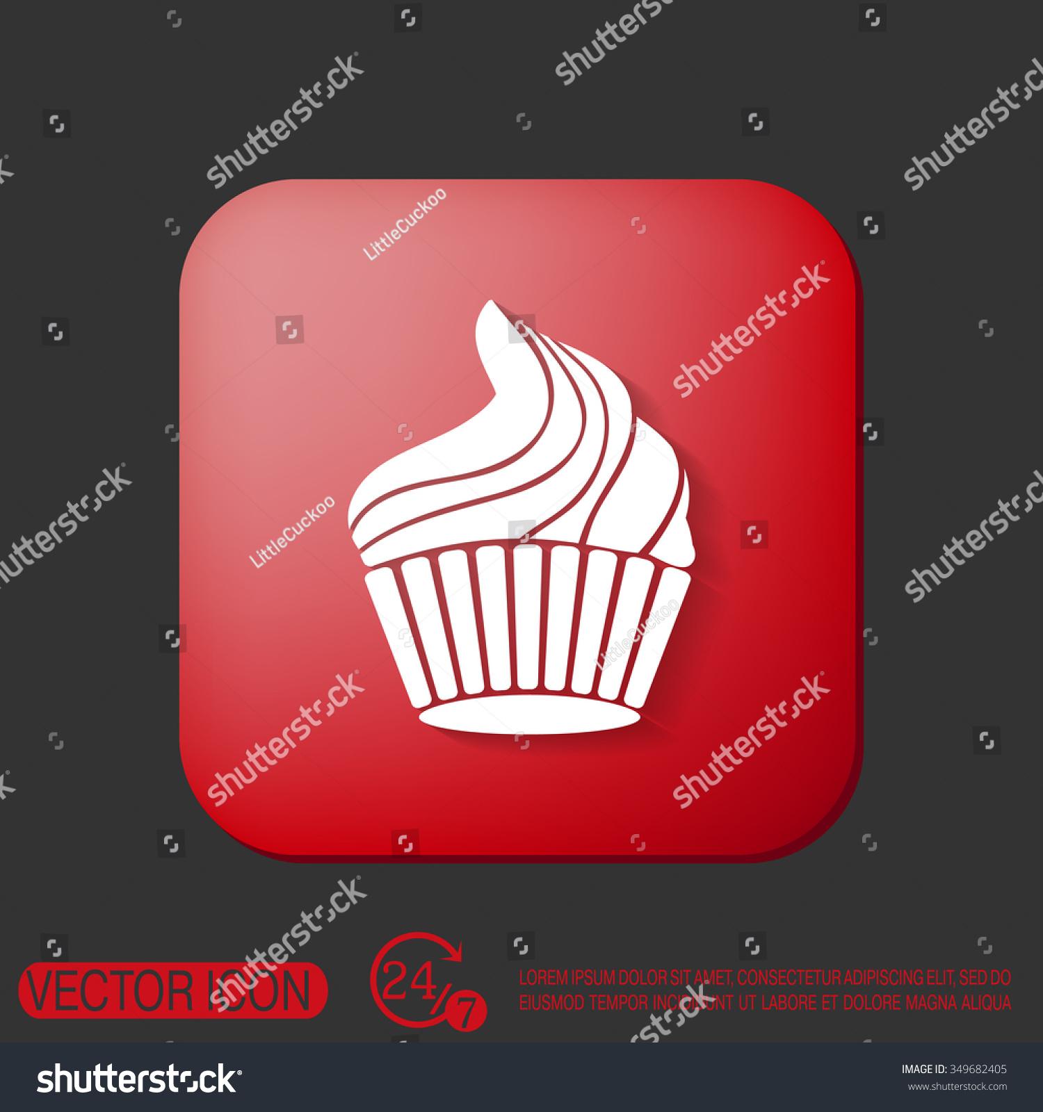 Birthday cake icon symbol cake celebrating stock vector 349682405 birthday cake icon symbol of cake celebrating the birthday of the loaf biocorpaavc