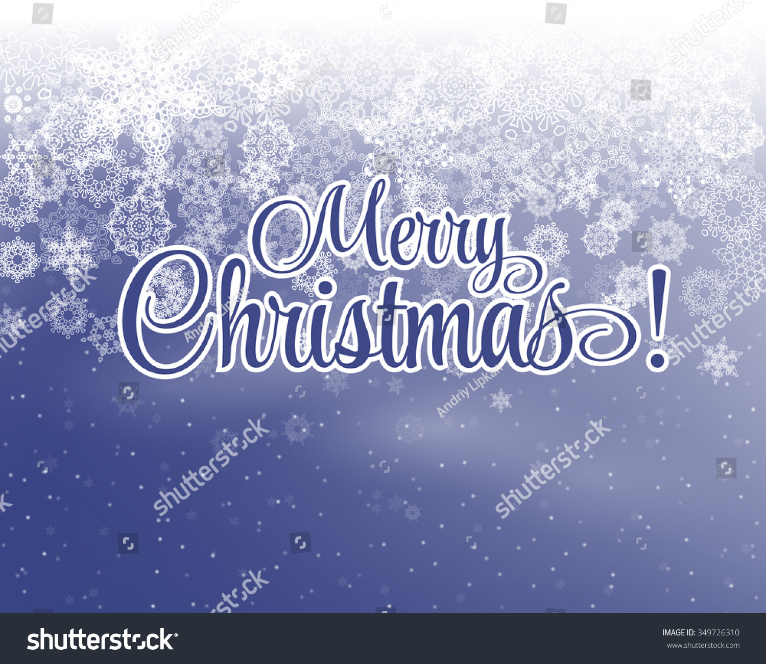 Merry christmas letters covered snow on stock vector 349726310 merry christmas letters covered with snow on snowy background vintage postcard madrichimfo Images