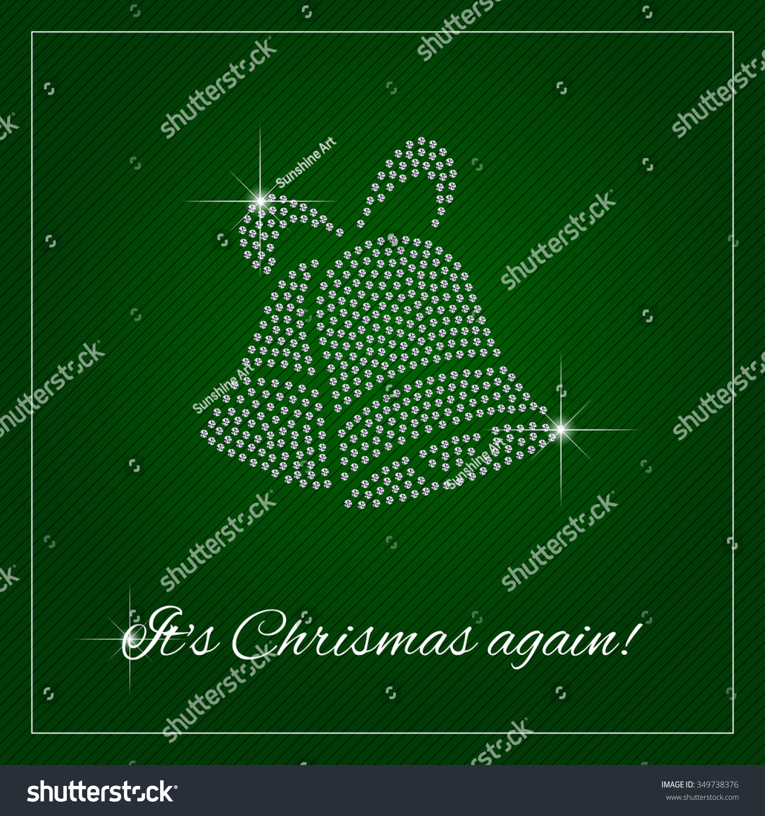 christmas greeting card or poster shimmering diamond luxury